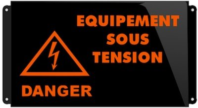 signalisation lumineuse danger sous tension